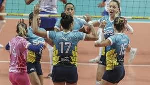 Pela primeira rodada da Superliga feminina, Sesi-SP ...