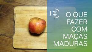Sem desperdício: reaproveitando maçãs maduras