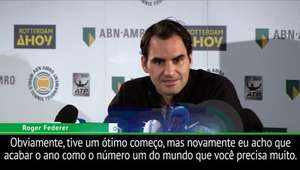 """Federer: """"Seria ótimo também chegar a 100 títulos"""""""