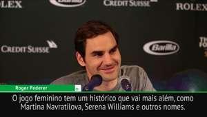 """Federer: """"Não quero ofuscar a Serena, estou feliz que ..."""