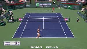 TÊNIS: WTA Indian Wells: Kerber v Vesnina (7-5, 6-2)