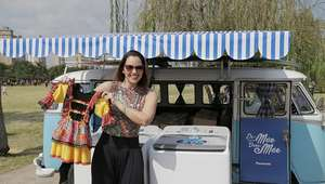 Mariana Belém faz doação de roupas infantis em parque ...