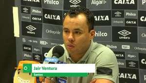 """SANTOS: Jair Ventura: """"Vitória fora estava batendo na trave"""""""