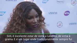 """WTA Tour: Serena: """"É ótimo voltar à grama de Wimbledon"""""""