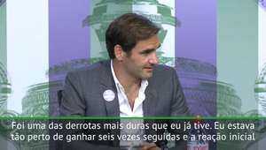"""Wimbledon: Federer: """"Derrota em 2008 me fez mais humano"""""""