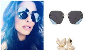 Juliana Paes exibe bracelete de R$ 359 e óculos geométrico