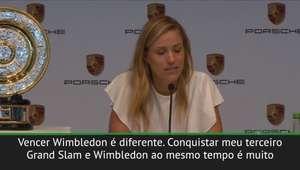 """Kerber: """"Sonhei com vencer Wimbledon a minha vida inteira"""""""