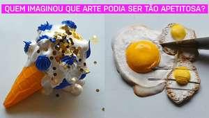 Quem imaginou que a arte poderia ser tão apetitosa?