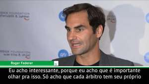 """Federer sobre 'sexismo' de Serena: """"Cada juiz tem seu ..."""