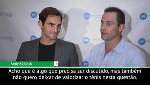 """US Open: Roddick sobre Serena: """"Tênis é exemplo em ..."""