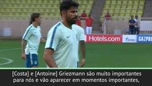 """Simeone aposta em Diego Costa e Griezmann: """"Vão aparecer ..."""