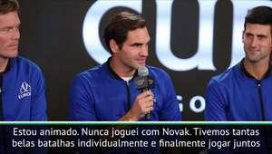 """Laver Cup: Federer e Djokovic juntos: """"Vai ser muito ..."""