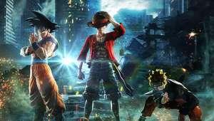 Naruto, Luffy e Goku viram estatuetas reais em Jump Force