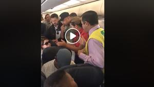 #Verificamos: mulher não foi expulsa de voo por política