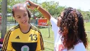 Cabelos coloridos contagiam até treinador na Copa Coca-Cola