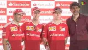 Vettel, Raikkonen e Gené topam desafio embaixadinha de Kaká