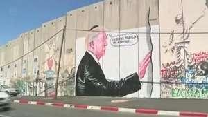 Donald Trump surge em muro da Cisjordânia