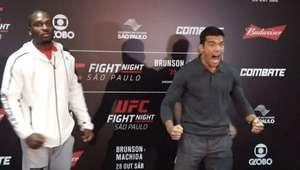 Lutadores fazem encaradas pré-luta no UFC São Paulo