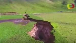 Cratera gigante aparece na Nova Zelândia
