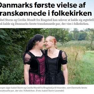 La primera Iglesia danesa en casar a una pareja transexual