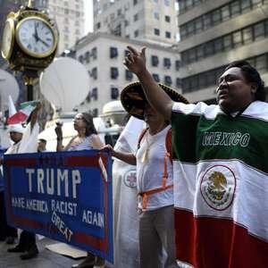 Guardaespaldas de Donald Trump ataca a manifestante mexicano