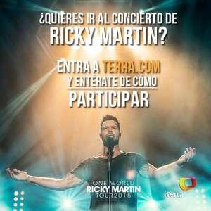 Gana boletos dobles para la gira de Ricky Martin