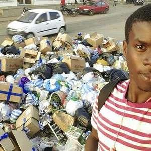 Angolanos fazem campanha contra o lixo fazendo selfies