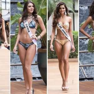 Miss Brasil 2015: candidatas posam de biquíni; dê o seu voto