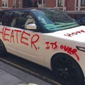 Foto de carro de RS$ 380 mil pichado nas ruas de Londres ...