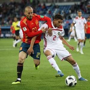 Em jogo parelho, Espanha empata com Marrocos e avança