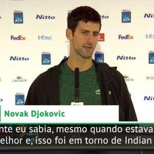 """TÊNIS: ATP Finals: Djokovic: """"Estou orgulhoso com minha ..."""