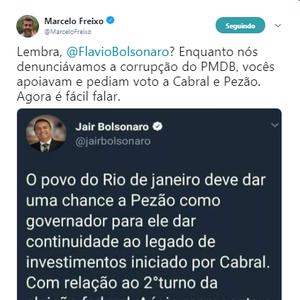 #Verificamos: Bolsonaro não pediu votos para Aécio e Pezão
