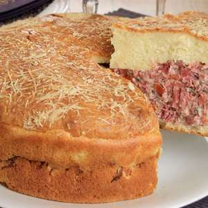 Torta de batata com carne-seca