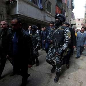 Forças de segurança egípcias matam 16 supostos militantes