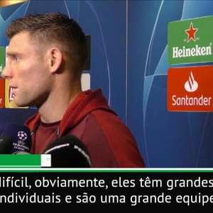 """Milner: """"Barcelona tem grandes jogadores"""""""