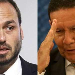 Carlos Bolsonaro ataca Mourão outra vez e esquenta crise