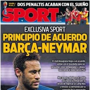 Neymar chega a acordo com o Barça, diz jornal