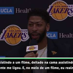 "VIRAL: NBA: Davis: ""Descobri que ia para o Lakers via ..."