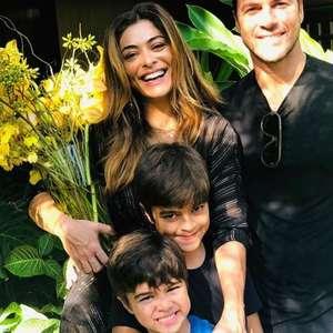 Juliana Paes e marido festejam aniversário de filho caçula