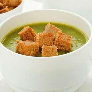 Sopa de ervilha com croûton