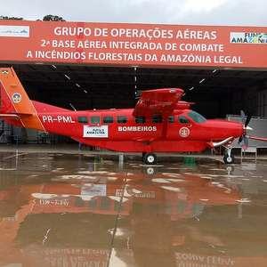 Avião que combateu queimadas foi comprado com Fundo Amazônia