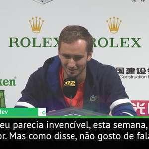 """ATP Shanghai: Medvedev: """"Aqui eu parecia invencível, mas ..."""