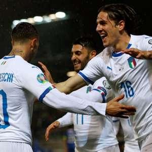 Itália goleia e segue 100% nas Eliminatórias da Eurocopa