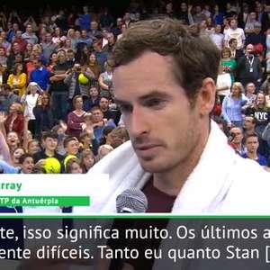 ATP Antuérpia: Murray sobre título: 'não esperava por isso'
