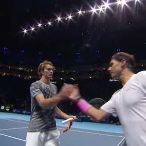 TÊNIS: ATP Finals: Nadal perde para Zverev (2-6, 4-6)