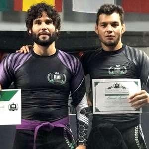 Ator Dudu Azevedo recebe faixa roxa de Jiu-Jitsu e Luta ...