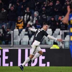 CR7 marca dois e garante a vitória e liderança da Juventus