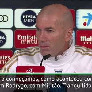 """FUTEBOL: Copa do Rei: Zidane sobre Reinier: """"Como todos ..."""