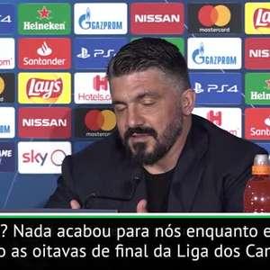 FUTEBOL: UEFA Champions League: Gattuso após empate com ...