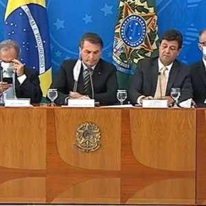 """Equipe de Bolsonaro critica Mandetta: """"Não se ajuda"""""""